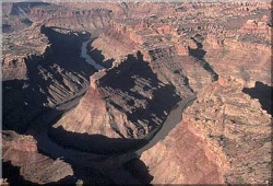 Confluence of the Colorado and Green Rivers in Canyonlands National Park Courtesy USGS Photo by Marli Miller, Photographer