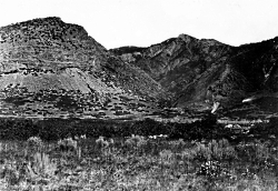 Click for a larger view of Ogden Canyon taken by the King Survey. Courtesy USGS, T.H. O'Sullivan, Photographer