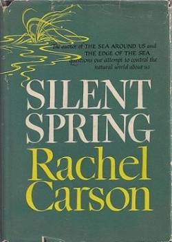 Silent Spring  First Edition Cover Copyright Houghton Mifflin, Publisher.   Note, rights exist for the designer/illustrators Lois Darling & Louis Darling Courtesy Wikimedia and Abe books.