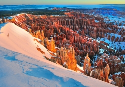 Snow at Bryce Canyon National Park Courtesy NOAA, Mark Stacey, Photographer