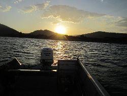 Sunset on Scofield Reservoir