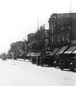 Logan's Main Street about 1920, Courtesy of Darrin Smith