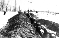 Digging waterline trenches in Cache Valley, circa 1935. Photo: Utah State University Special Collections and Archives.