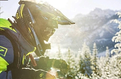 Enjoying Utah's Backcountry with Snowmobiles: Snowmobiling along a groomed trail Enjoy Wild Utah Courtesy & Copyright Sebastian Voortman, Photographer