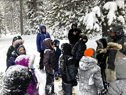 Snowshoes and Adaptations: Receiving Instructions in Snowshoeing Courtesy & Copyright Josh Boling, Photographer