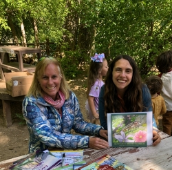 Author Melissa Marsted and Illustrator Liesl Cannon at the Stokes Nature Center Book Signing Courtesy & © Mary Heers