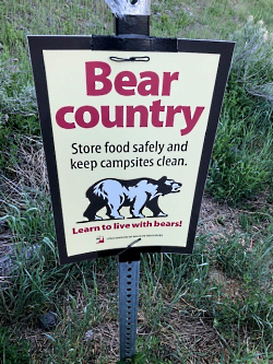 Black Bear Country: Bear Country Sign, Utah DWR Courtesy Mary Heers, Photographer