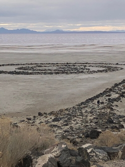 Robert Smithson's Spiral Jetty (1970) Courtesy & © Mary Heers, Photographer