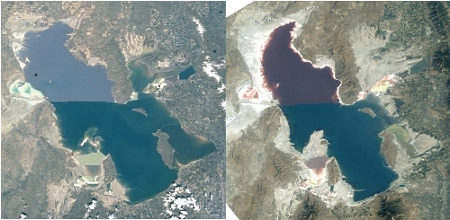 Great Salt Lake Footprint 2001 vs 2003 Comparison