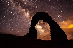 Delicate Arch at Night Courtesy National Park Service, Jacob W. Frank. Photographer