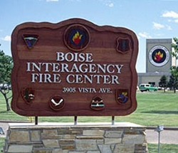 Boise Interagency Fire Center entrance sign. Courtesy of National Interagency Fire Center.