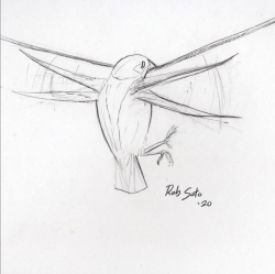 A Pretty Decent Salve: [Watching a] Bird Landing Courtesy & © Rob Soto, Artist