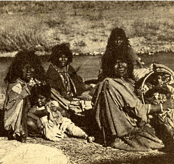 Shoshone Women and Children. Photo taken in 1870, Unknown photographer. Courtesy USU Digital History Collections.